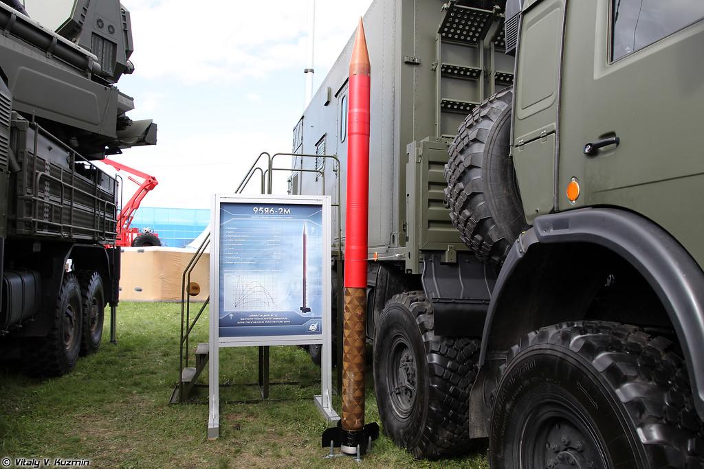 "Ракета-мишень 95Я6-2М, созданная на базе зенитной ракеты ЗРПК ""Панцирь-С1"" 95Я6 (Target missile 95Ya6-2M based on Pantsir-S1 missile 95Ya6)"