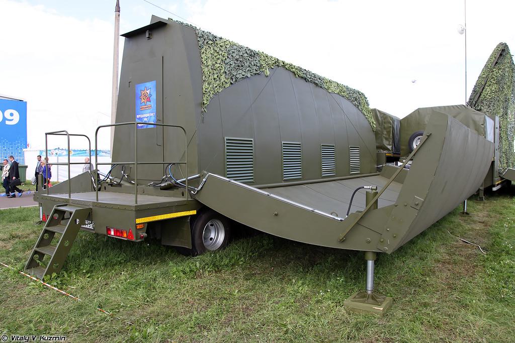 Мобильная специализированная РЛС Демонстратор (Demonstrator radar system)<br /> Передающий пост РЛС Демонстратор (Demonstrator system transmitting post)