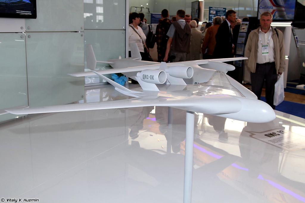 Модель дальнего магистрального самолета ДМС-ЛК (Model of long-range passenger airplane DMS-LK)
