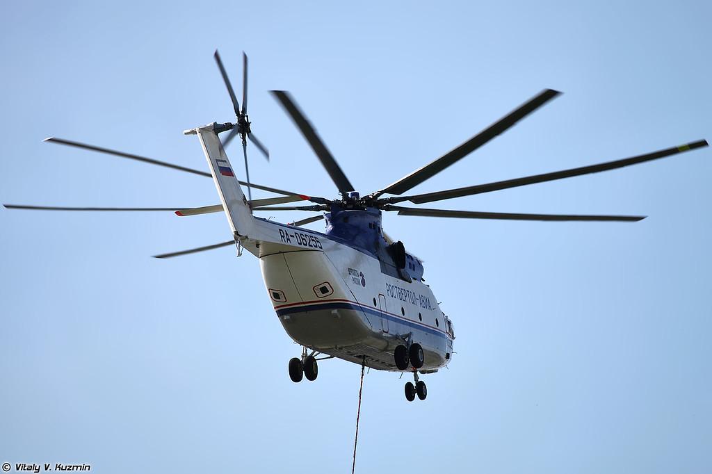 Ми-26Т с водосливным устройством (Mi-26T)