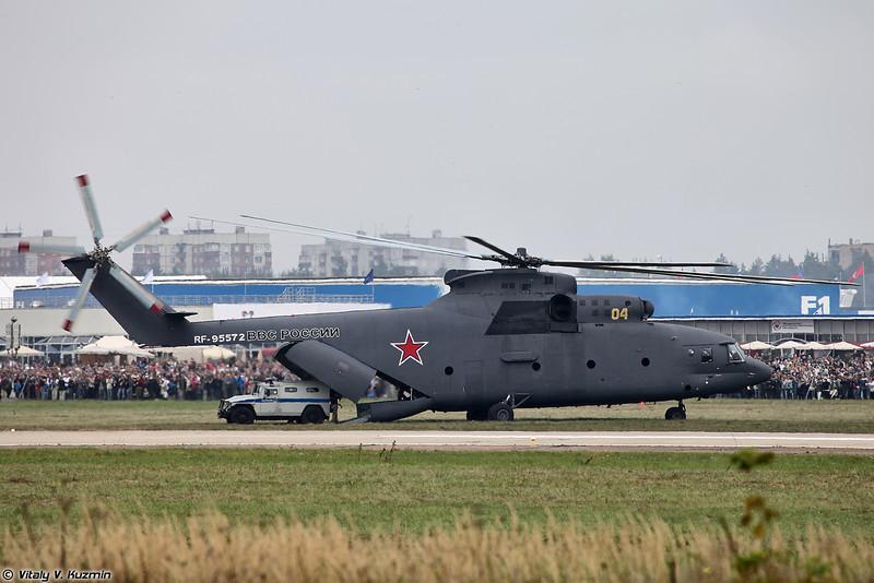 Ми-26 доставил два бронеавтомобиля ГАЗ Тигр (Mi-26 delivered two GAZ Tigr armored vehicles)
