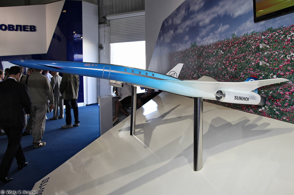 Модель проекта Sukhoi SSBJ-100 (Sukhoi SSBJ-100 project model)