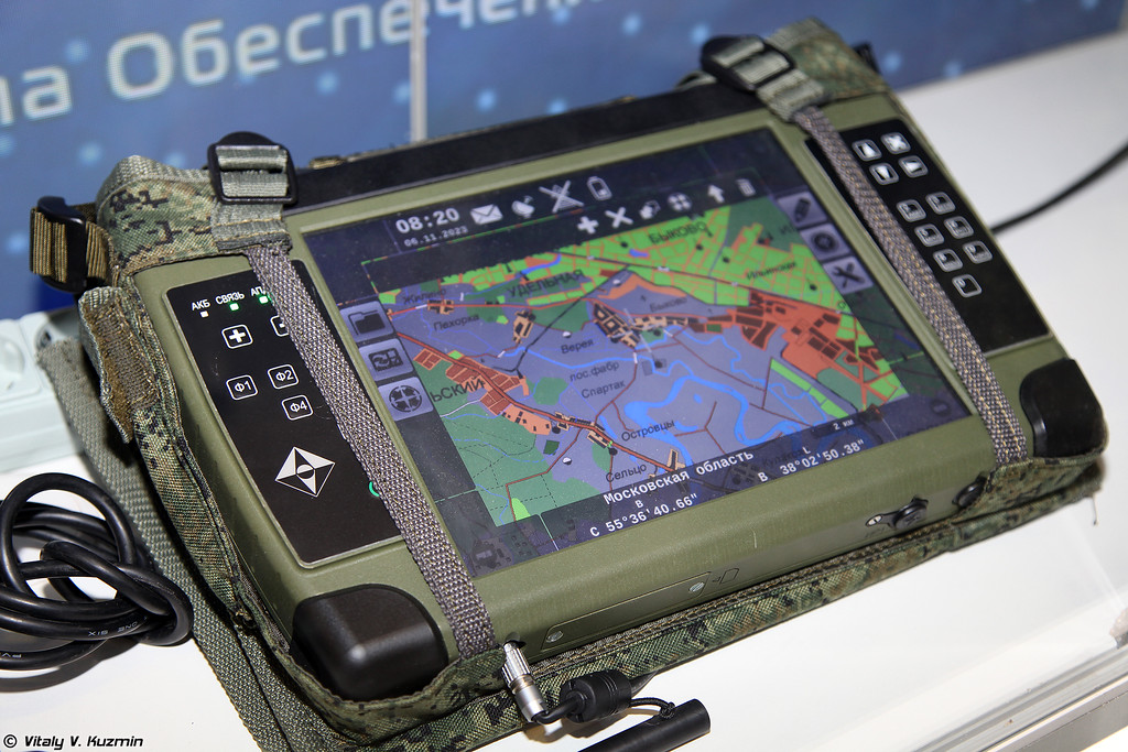Командирский персональный планшетный компьютер, предназначен для решения задач управления и ориентирования в тактическом звене командного состава (Commander personal tablet PC)