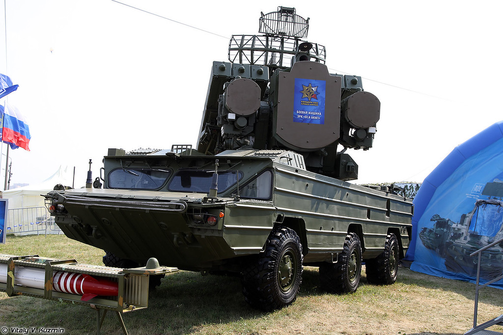 Боевая машина 9А33БМ4 зенитно-ракетного комплекса Оса-АКМ1 (9A33BM4 TELAR of Osa-AKM1 system)