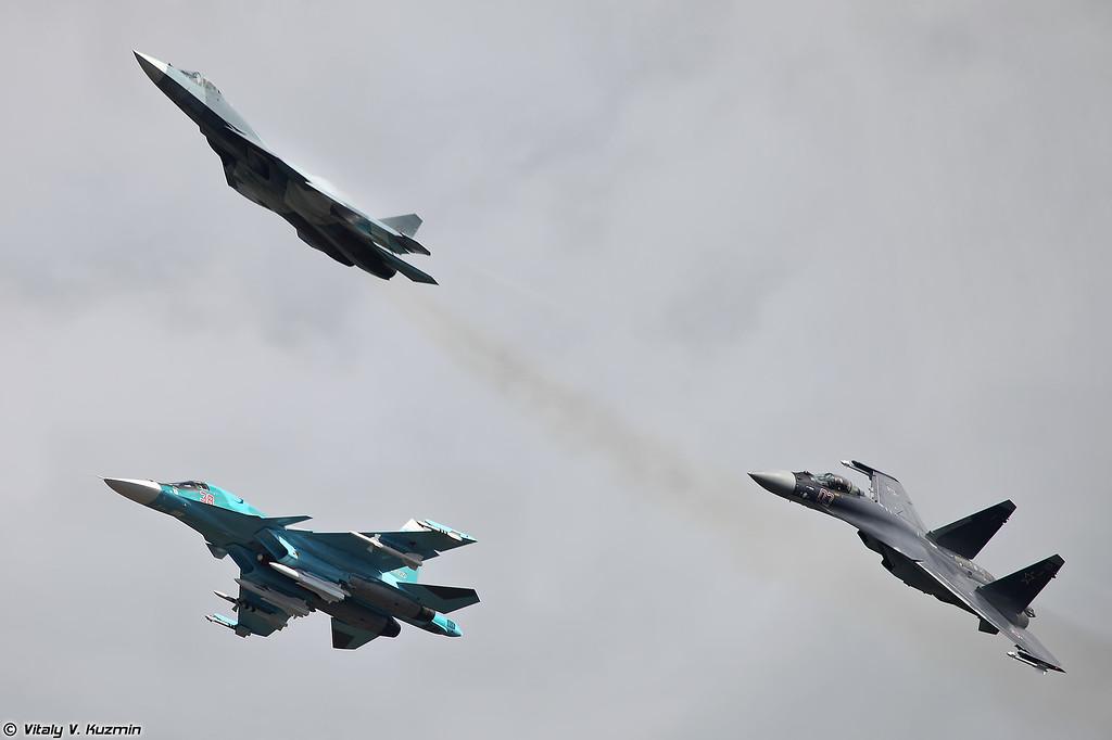 Роспуск Су-34, Т-50 и Су-35С (Su-34, T-50 and Su-35S)