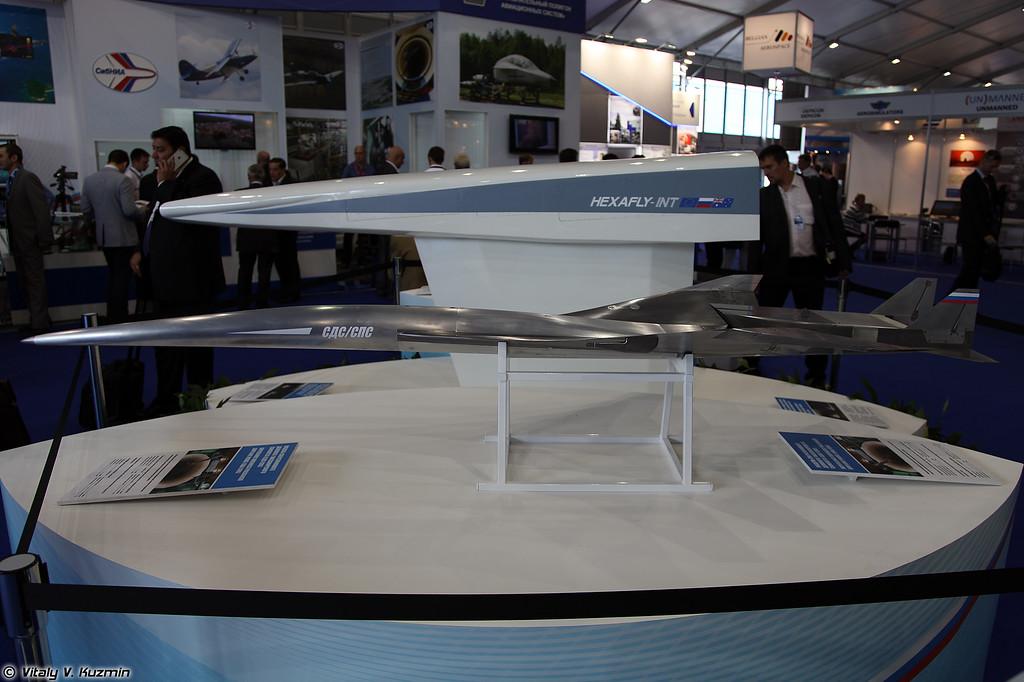 Модель сверхзвукового делового/пассажирского самолета (Model of supersonic airplane)