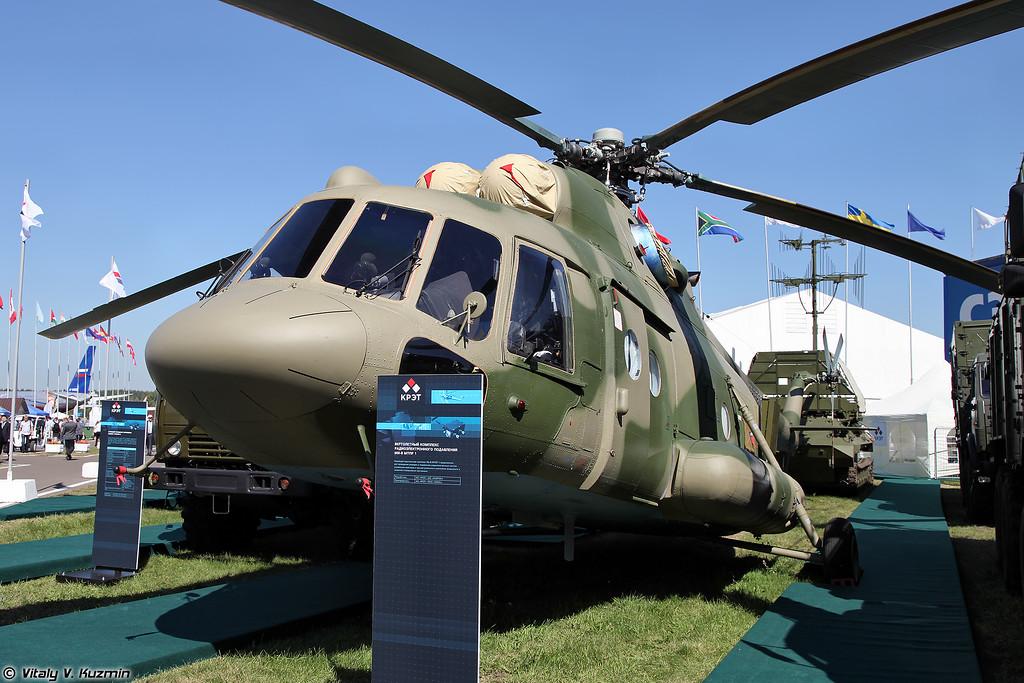 Вертолетный комплекс радиоэлектронного подавления Ми-8МТПР-1 (Mi-8MTPR-1 EW helicopter)