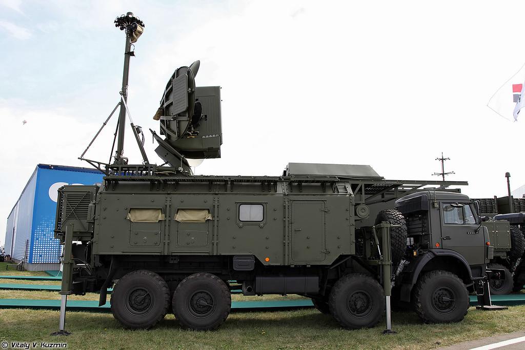 Наземный модуль радиоэлектронного подавления 1РЛ257Э Красуха-4 (1RL257E Krasukha-4)