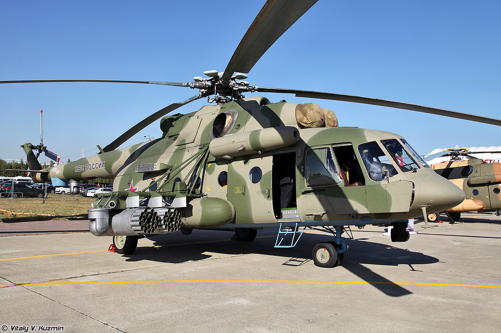 Ми-8АМТШ с бортовым комплексом обороны Л370Э8 Витебск (Mi-8AMTSh with on-board defense system L370E8 Vitebsk)