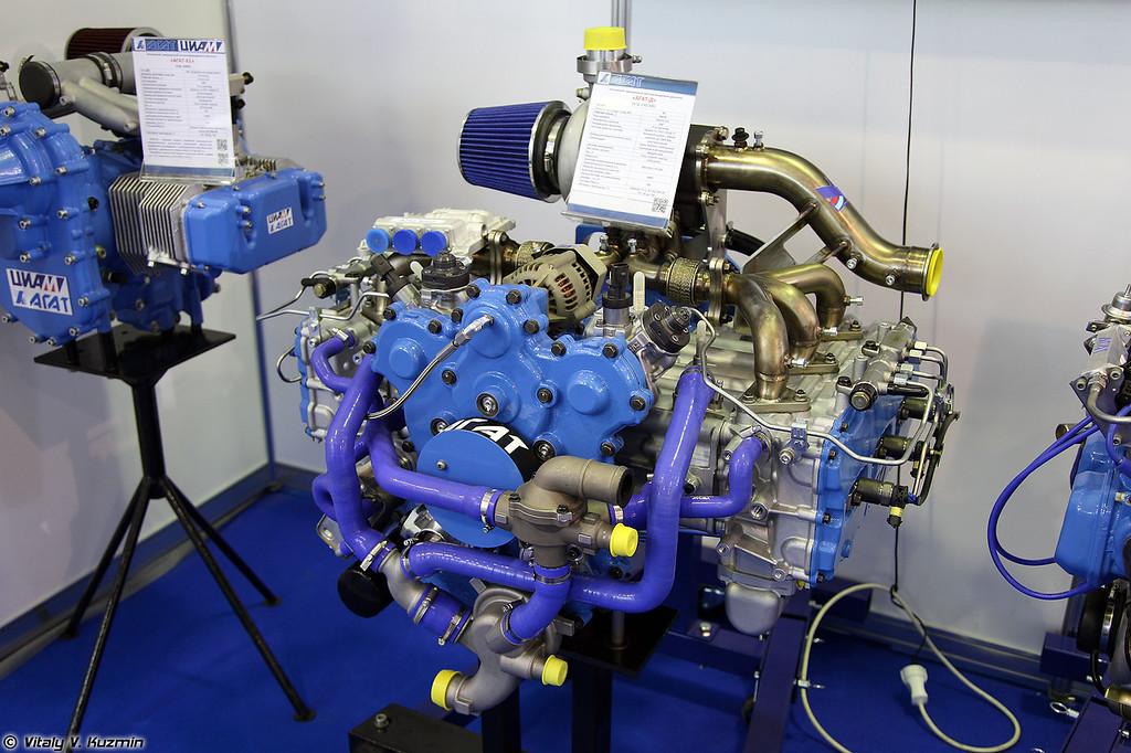 Оппозитный авиационный двигатель Агат-Д АПД-250/300 (Agat-D APD-250/300 engine)