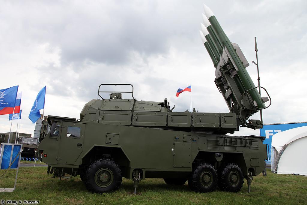 Самоходная огневая установка 9А317Э из состава ЗРК БУК-М2Э (9A317E TELAR from Buk-M2E SAM system)
