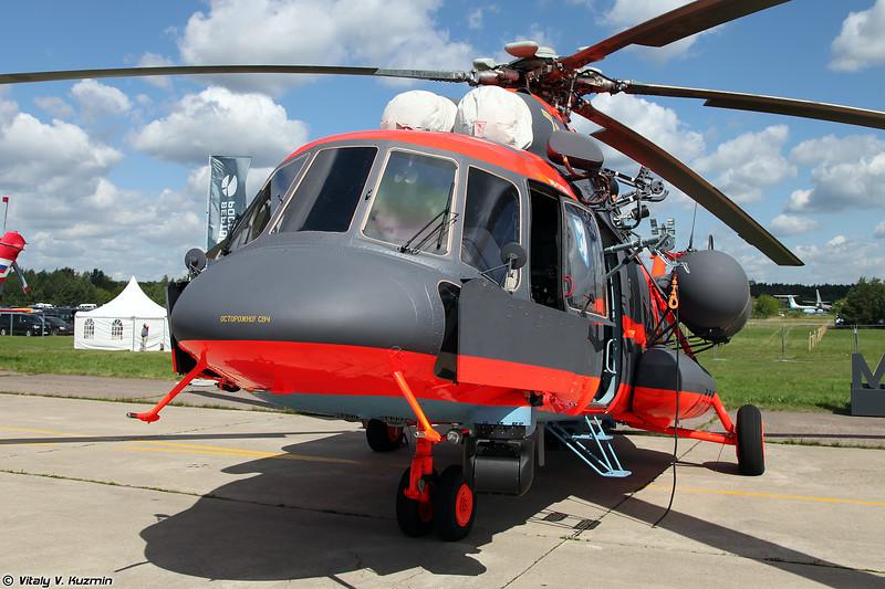 Еще один Ми-8АМТШ-ВА представлен под экспортным наименованием Ми-171Ш (One more Mi-8AMTSh-VA was presented under export designation Mi-171Sh)