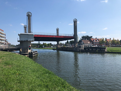Site of the swing bridge at Son, a 101st Airborne Division objective to cross the Wilhelmina Canal. This modern bridge replaces the original, which the Germans destroyed.