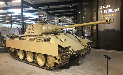 The very capable German Panther tank in the military museum in Overloon, in excellent condition.