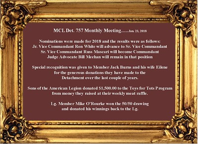 1-23-18 Det. 757 Monthly Meeting