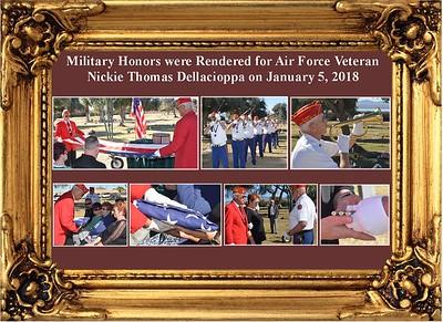 1-5-18 Service for AF Veteran Nickie Dellacioppa