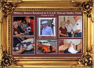 10-6-18  Military Honors Rendered for USAF Veteran Stanley Nosik
