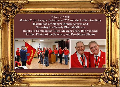 2-17-18 MCL Det 757 Installation of Officers