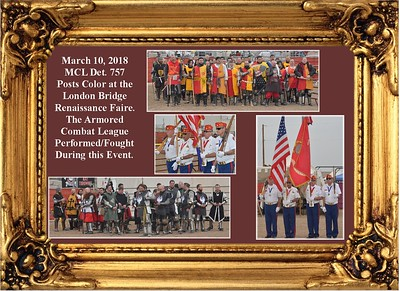 3-10-18  Presenting Colors for the Armored Combat League
