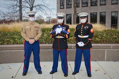 Marine Corps Birthday - Flag Raising Ceremony - Naperville, Illinois - November 10, 2020