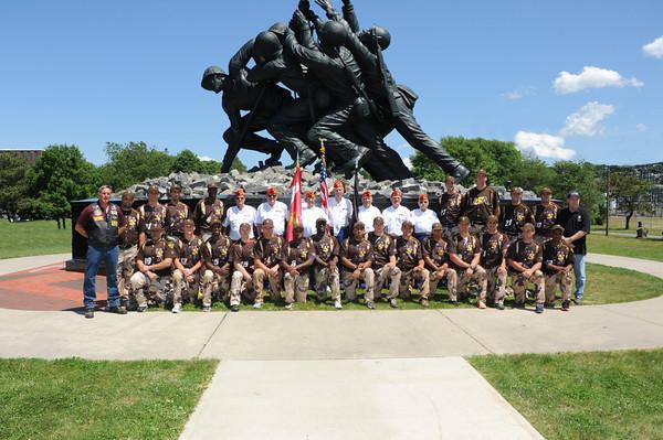 6-20-13 U. S. Military All Star BB Team. Iwo Jima Monument, Fall River, Ma.