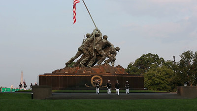 Marine Corps Silent Drill Team entrance