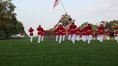 Marine Drum and Bugle Corps plays Stars and Stripes Forever