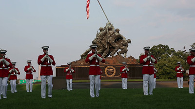 Marine Drum and Bugle Corps plays selections from Motown
