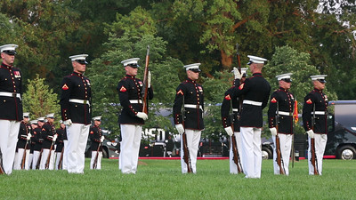 Marine Corps Silent Drill Team inspection