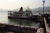 The boat docked at Miya Jima Island.