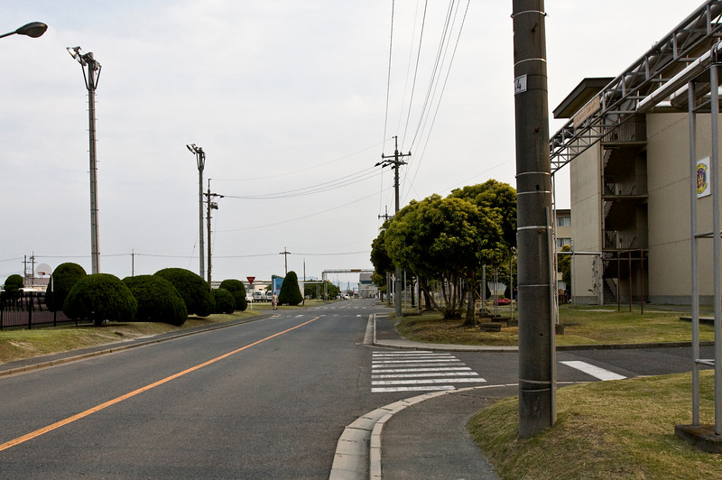 The road to the flight line that we walked every day from the P-3 barracks.