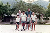 Me and Rusty Brasher with Japan's next All-Star team. This bunch of little shysters kicked our American baseball butts!! Kintai Park. June, 1985.