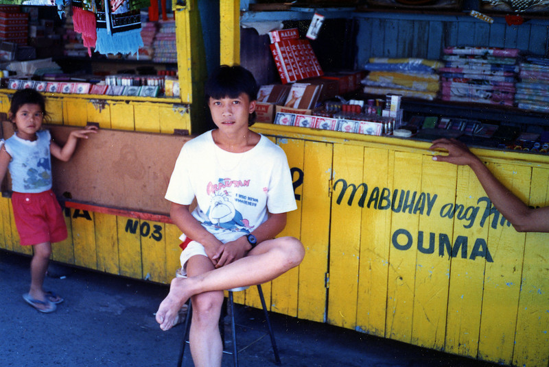 One of many tiny shops in the marketplace in Olongapo City, R. P.. 16 Feb., 1987.
