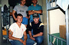Standing (L) LCpl. Mitch Laubach (R) LCpl. Dan Fierro.<br /> Kneeling (L) Cpl. Doug Hermson (R) Me.<br /> <br /> Upper MAU Camp, R. P. Feb., 1987.