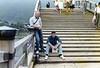 Me and LCpl. Rusty Brasher on the Kentai Bridge, Iwakuni, Japan, June, 1985.