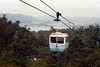 Cable car to the top of Miya Jima Island. Looking northwest off the island. Oct. 1985.