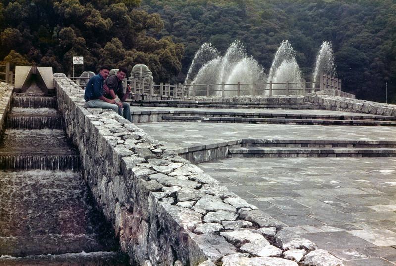Rusty Brasher (l) and Dion Destephanis (r). Kintai Castle Park, Iwakuni, Japan. 1 June, 1985.