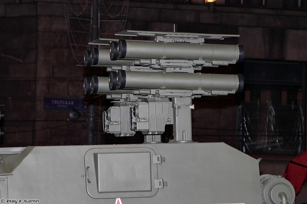 Пусковые установки ПТРК Корнет-Д (Kornet-D ATGM launchers)