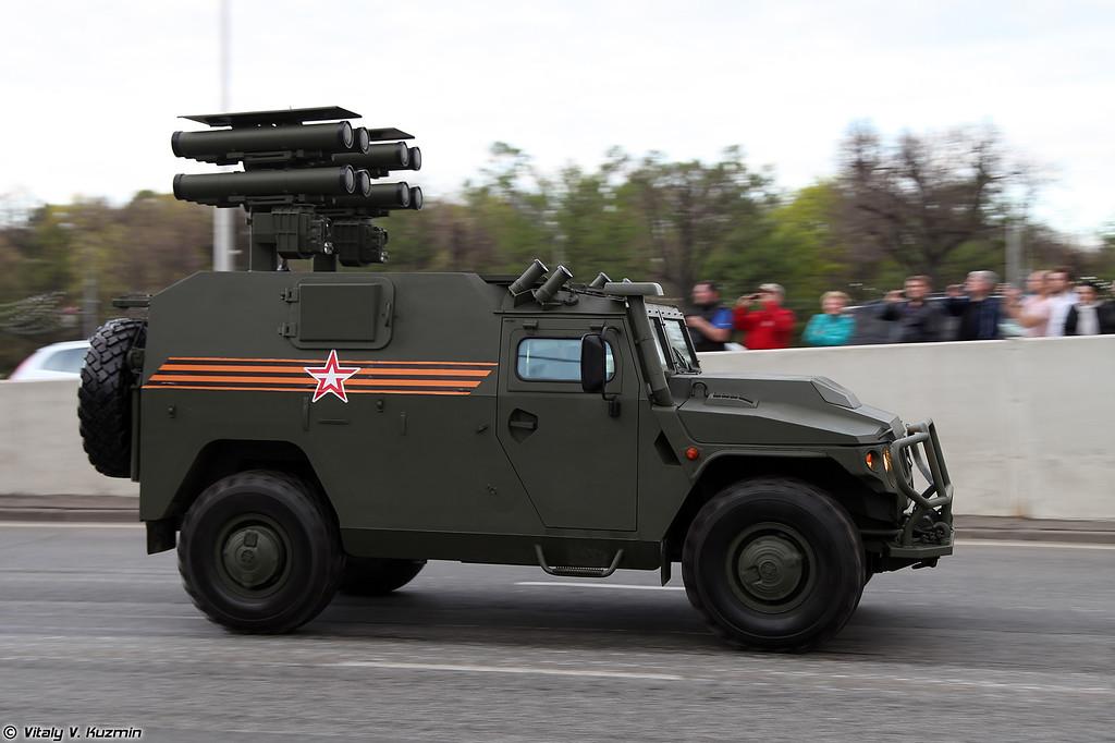 Противотанковый ракетный комплекс Корнет-Д на базе ВПК-233116 Тигр-М (Kornet-D ATGM system on VPK-233116 Tigr-M base)