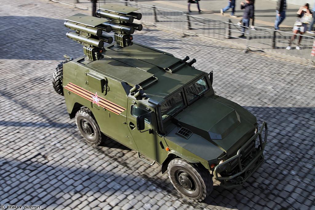 Противотанковый ракетный комплекс Корнет-Д1 на базе ВПК-233116 Тигр-М (Kornet-D1 ATGM system on VPK-233116 Tigr-M chassis)