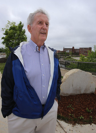 The intersection of Canal and Jackson Streets in the Hamilton Canal District will be dedicated to the late David McNerney, a Lowell native awarded the Congressional Medal of Honor resulting from his service during the Vietnam war. McNerney's cousin Joseph Smith of Lowell, explains why he wanted his cousin remembered. (SUN/Julia Malakie)