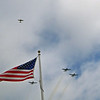 Missing Man Formation over Iwo Jima Flag