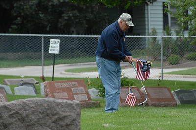 Memorial Day Activities - 2013 - Naperville, Illinois - Flag Laying Ceremony - Naperville City Cemetery