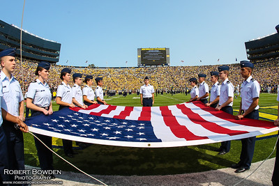 Michigan vs Air Force ROTC 16 Sept 2017