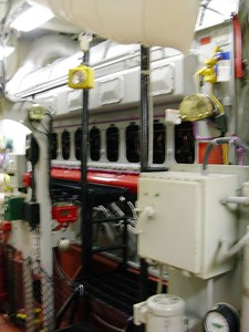 Side of Diesel Generator