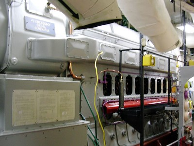 Emergency Diesel Generator by Galley 4