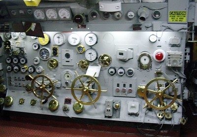 Control Wheel Section of Engine Room