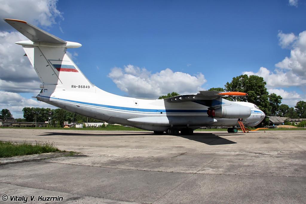 Ил-76М б/н RA-86849 (IL-76M RA-86849 Black)