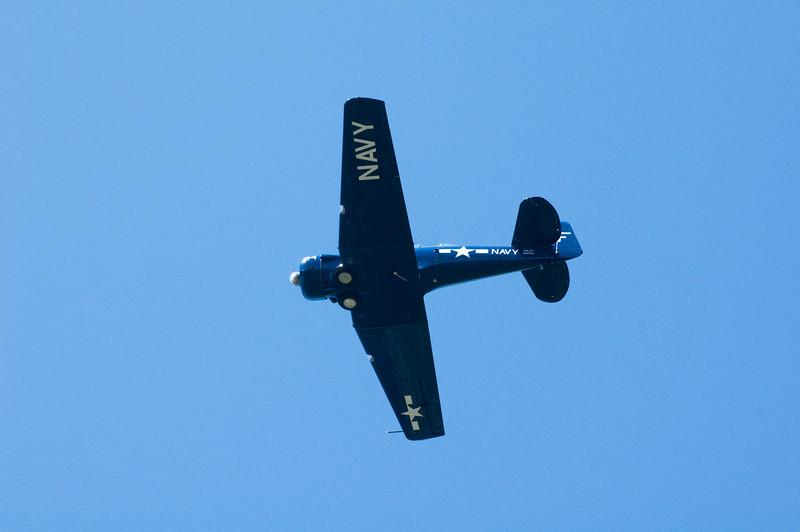 Navy WWII Fighter <br /> Marine Park Trail, near Bellingham International Airport, Bellingham, Washington