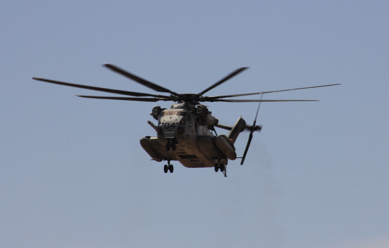 US Marines CH-53E hovering